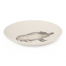Wild Boar Large Serving Bowl | Charcoal