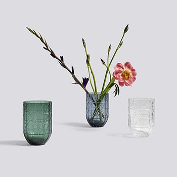 Scholten and Baijings colour glass vases by HAY