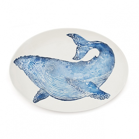Whale Oval Platter Large