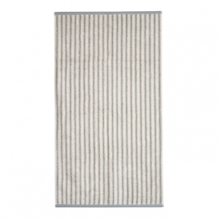 Ticking Stripe Towels | Grey