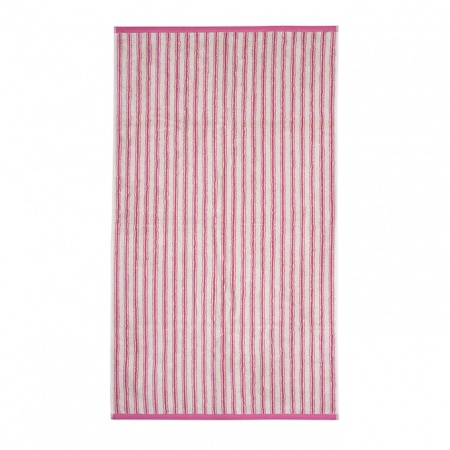 Ticking Stripe Towels | Pink