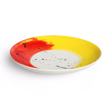 Swish Serving Dish Large | Red & Yellow