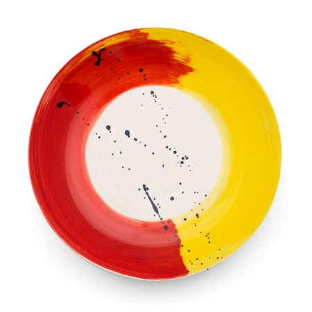 Swish Platter | Red & Yellow