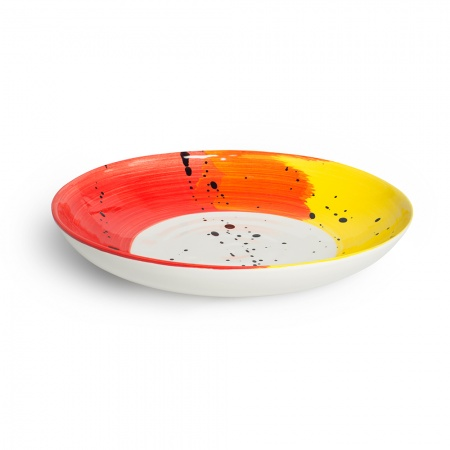 Swish Supper Bowl | Red & Yellow