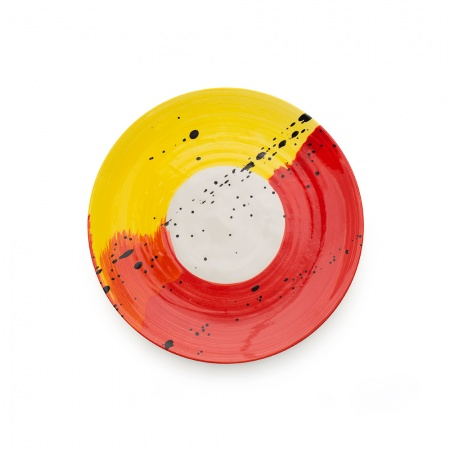 Swish Side Plate | Red & Yellow