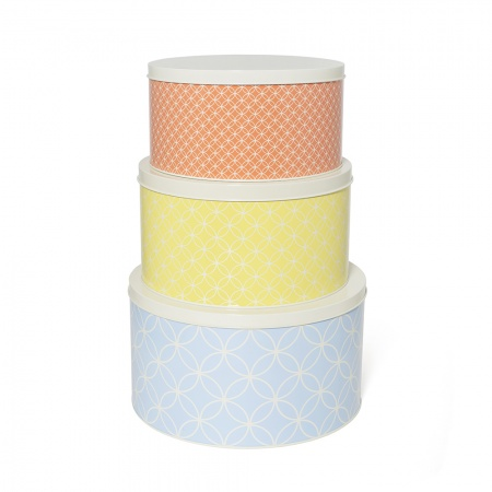 Set of 3 cake and biscuit tins