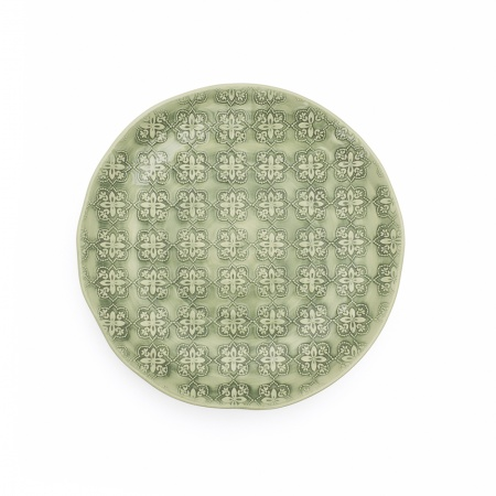 Side Plate | Green Mosaic