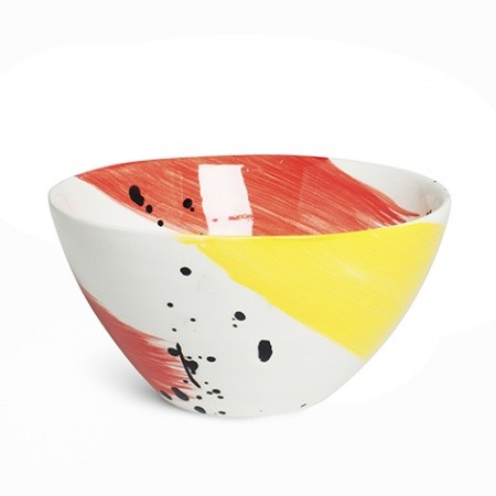 Swish Salad Bowl | Red & Yellow