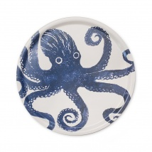 Blue Octopus Large Round Tray