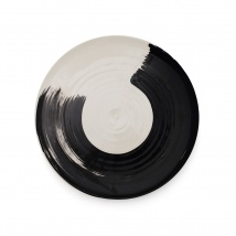 Swish Dinner Plate | Charcoal