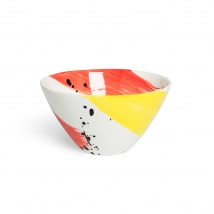 Swish Cereal Bowl | Red & Yellow