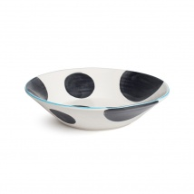 Spots Supper Bowl | Charcoal