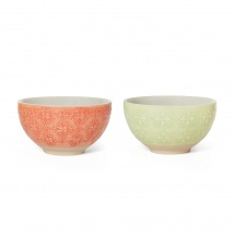 Small Bowl Set 2 Red & Green