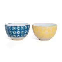Small Bowl Set | Blue & Yellow