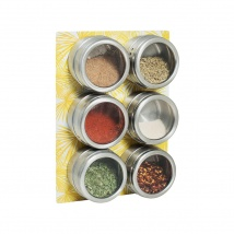 Spice Rack & Jars Set | Yellow Palm