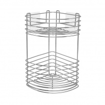 Wire Corner Basket 2 Tier